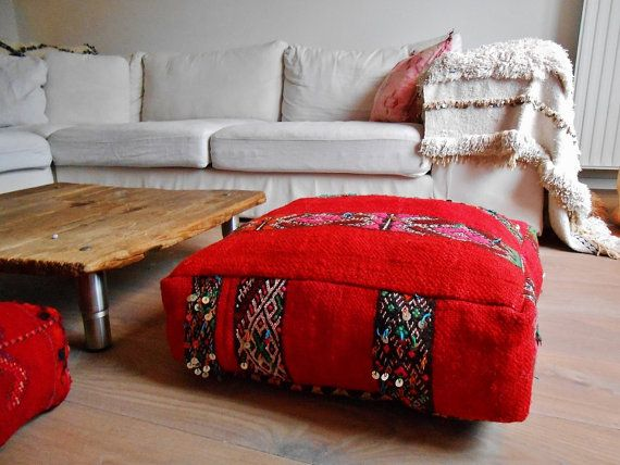 Big floor pillow Handmade Moroccan poof by TheBohemianLifestyle ...