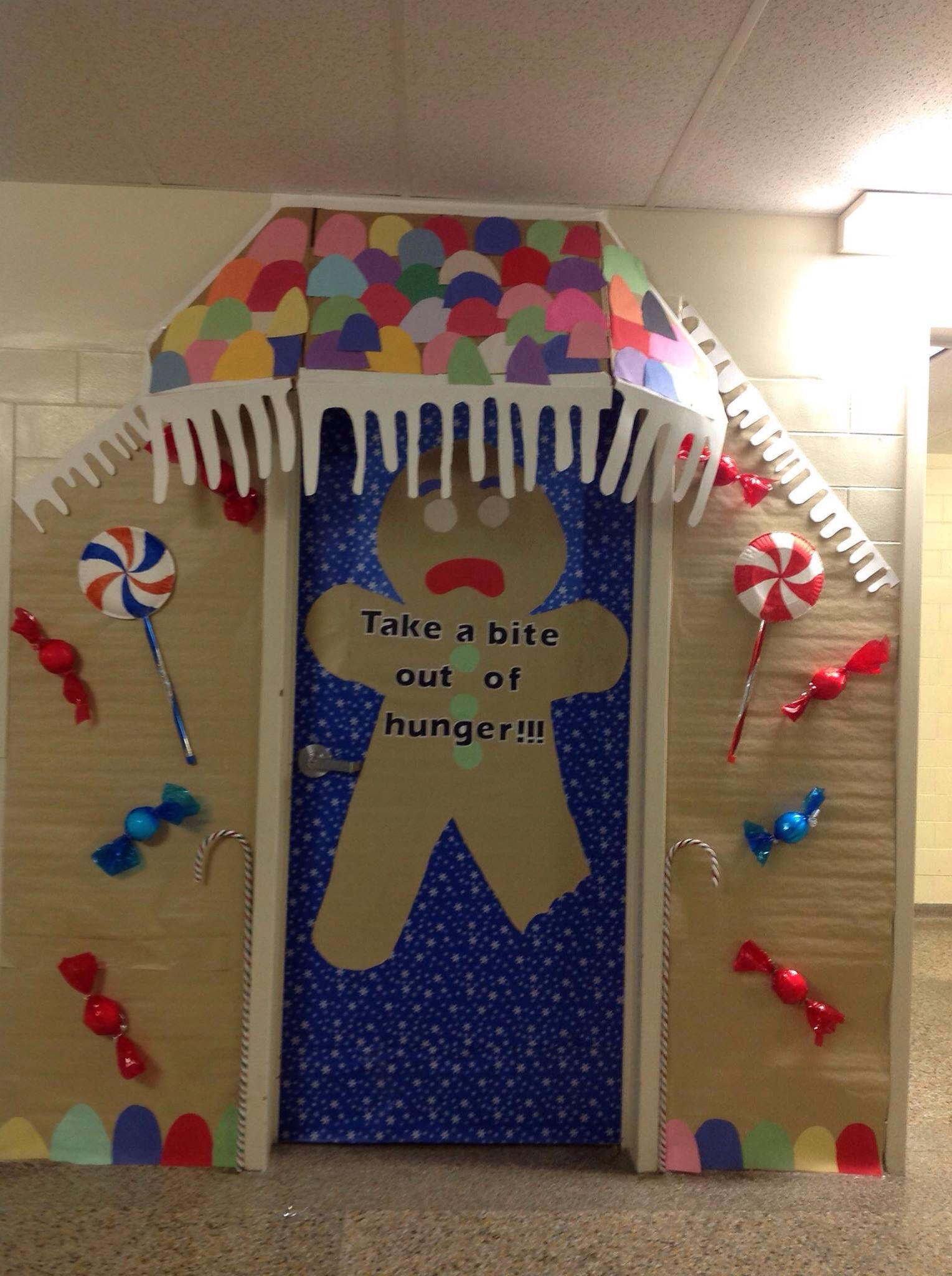 Canned Food Drive Classroom Door Decorations Gingerbread