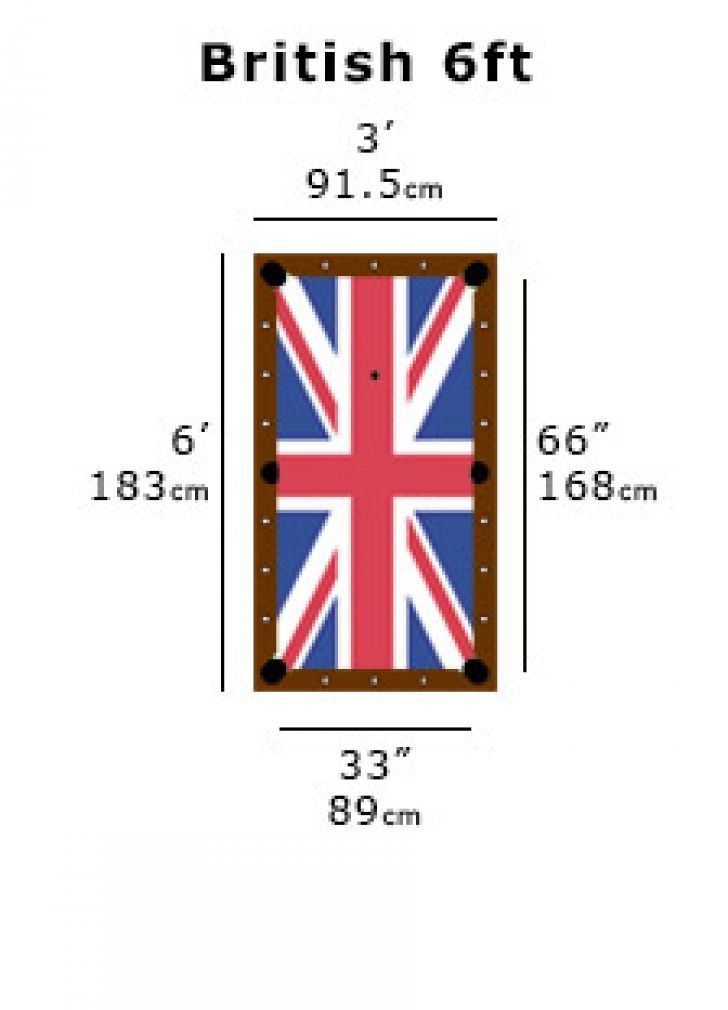Image result for six foot uk pool table dimensions in