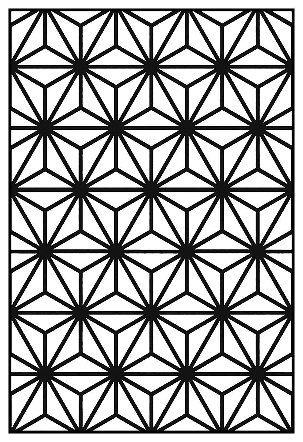 Art deco pattern adult coloring page style n from the gallery