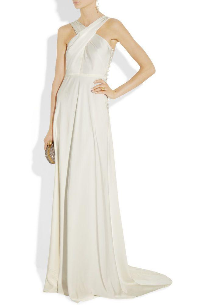 NWT J Crew Ivory Silk Nadia Wedding Gown Dress Size 2 4 8 $600 Strapless Maxi