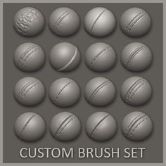 ArtStation - 16 Custom Seam/Stitch brushes for zBrush, Daniel Palmi