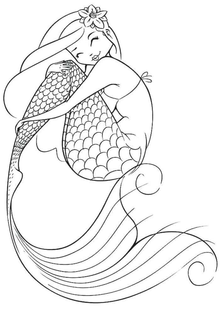 Fairy Mermaid Coloring Pages In 2020 Mermaid Coloring Pages Fairy Coloring Pages Realistic Mermaid