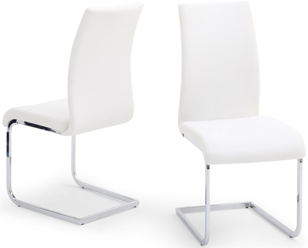 Faux Leather Dining Chairs With Chrome Legs Leather Dining