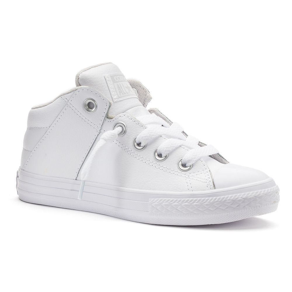 best loved da461 84a97 Kids Converse Chuck Taylor All Star Axel Mid Leather Sneakers, Boy s, Size   11, White Oth