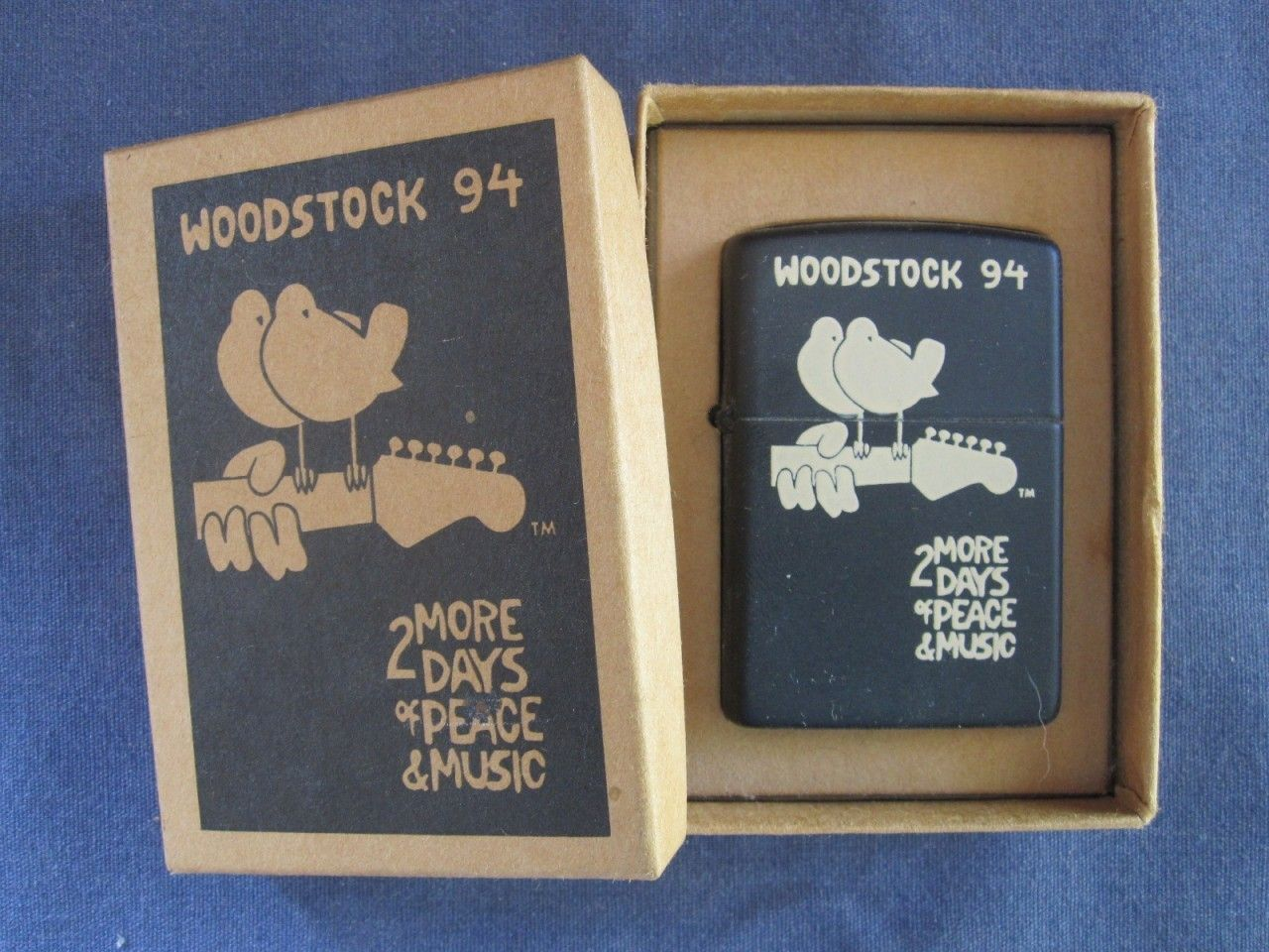 Zippo Lighter Woodstock 94 2 More Days Of Peace Music Rare