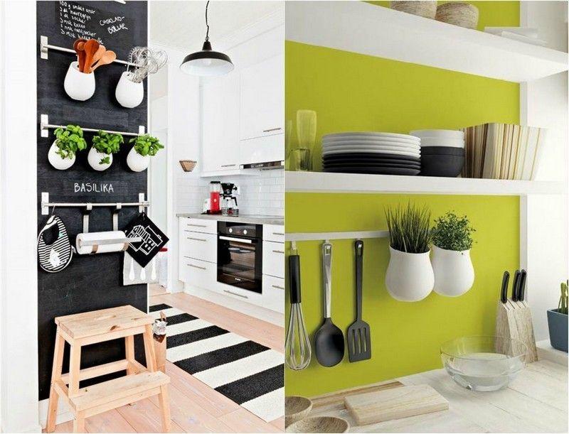 Ikea Asker Behälter eignen sich perfekt für Kräutergarten - deko für küche