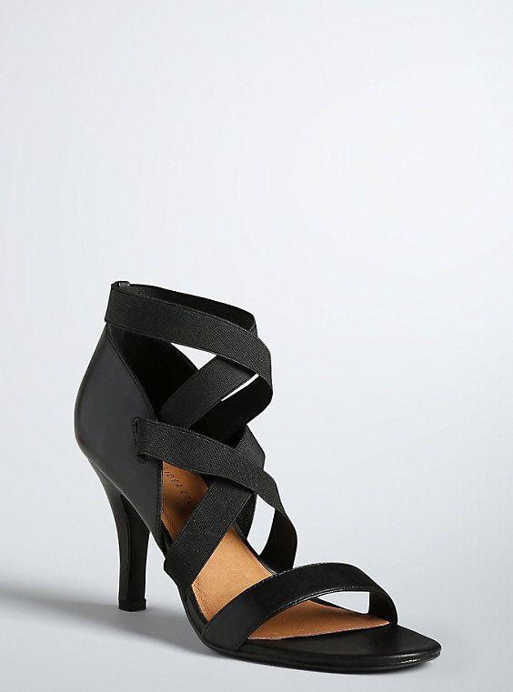 044b2b988fea Plus Size Torrid Insider Leather Strappy Heels (Wide Width)