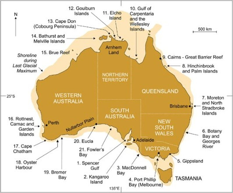 Thanks J Bea Young for posting this Map of Australia showing the