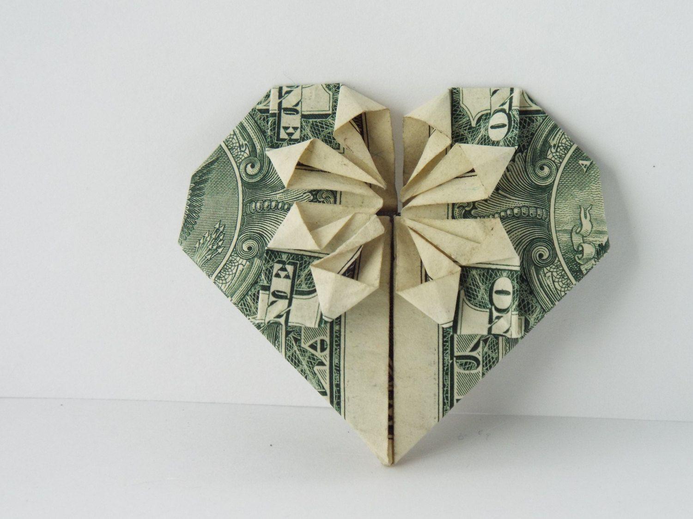 оригами в картинках из купюр тут