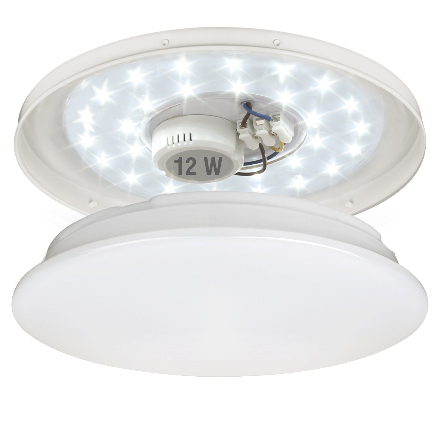 12W LED Ceiling Lights, 22W Fluorescent Bulb Equiv, Daylight White, 950lm, Lighting for Living Room, Bedroom, Dining Room, Flush Mount Ceiling Lights