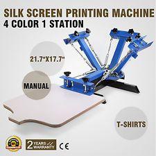 1 Color 1 Station Screen Printing Machine Silk Pressing Manual Glass T-Shirt DIY