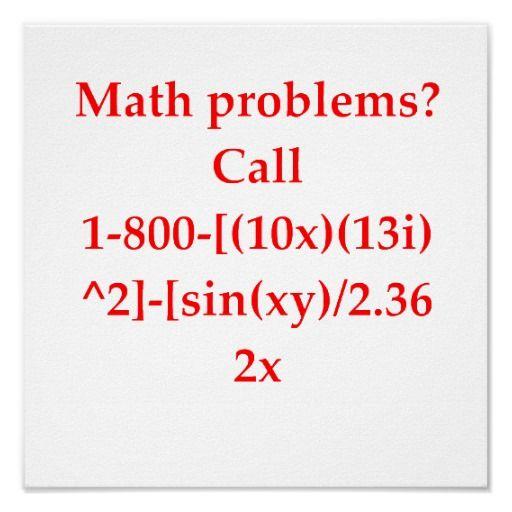 Funny Math Joke Poster Funny Math Jokes Math Humor Math Jokes