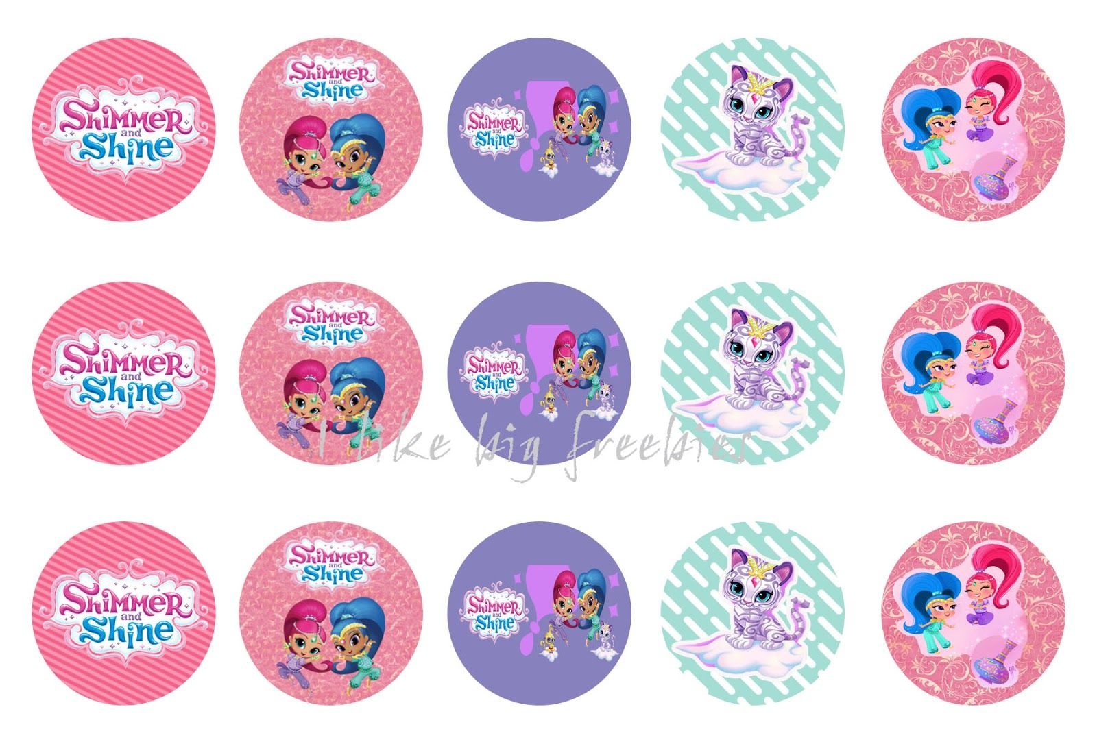Freebies Shimmer And Shine Bottlecap Images For Hair Bows