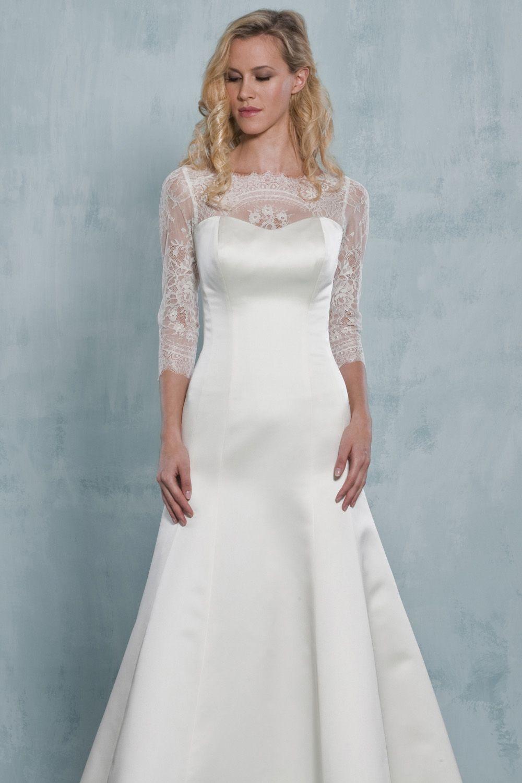 Boatneck jacket, Augusta Jones, Style: J35-L37 | Wedding Dress ...