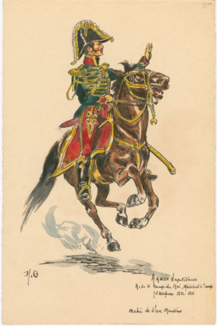 Armée Napolitaine: Aide de Camp du Roi... 1812-1813, by H. Boisselier.