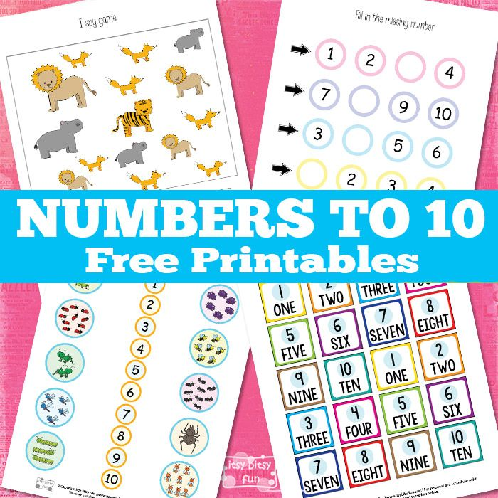 FREE Numbers to 10 Worksheets   Learning numbers, Numbers and Worksheets