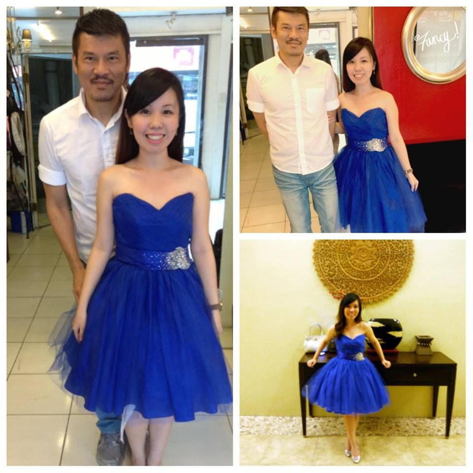 A quick photo with Erwin Lee Tan, the designer of this royal blue ...
