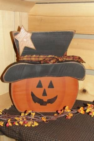 Pumpkin Face With Hat And Star Fall Wood Crafts Halloween Wood Crafts Wood Baby Toys