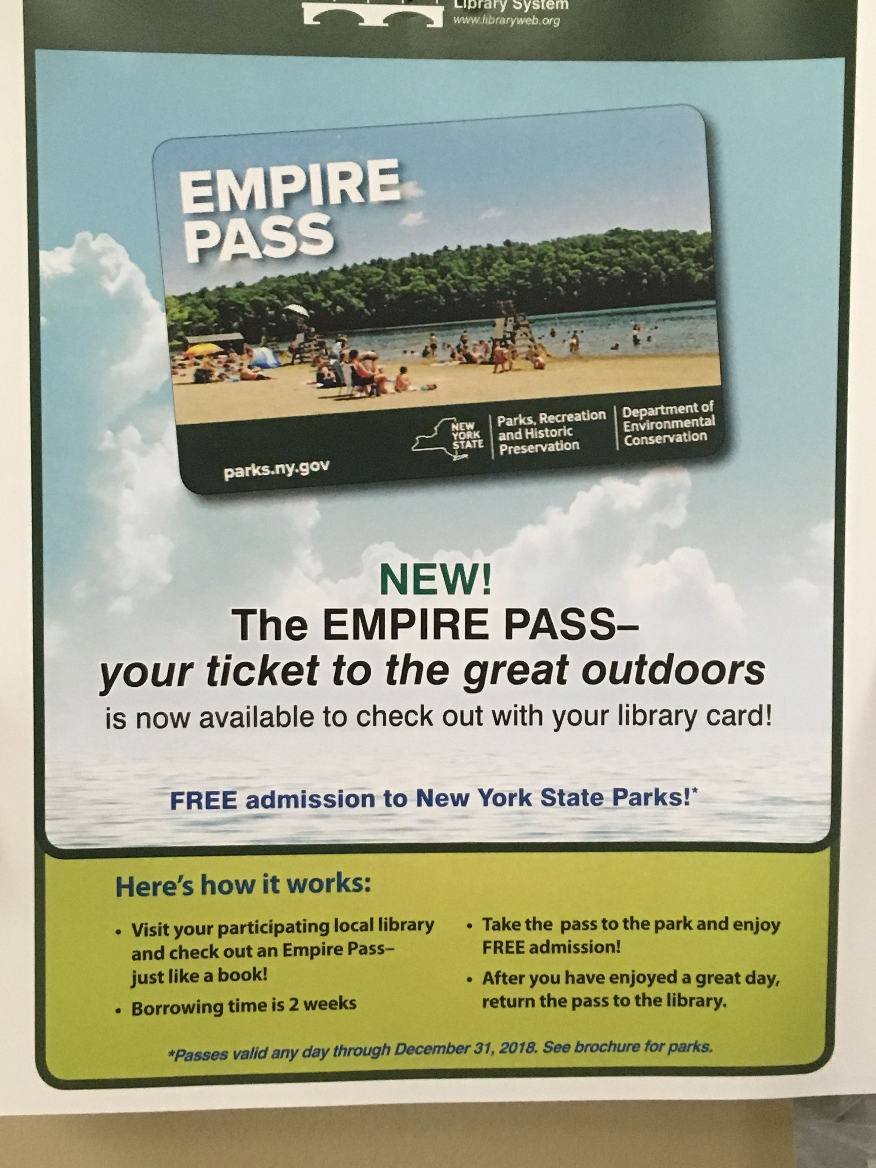 Free Empire Pass To Nys Parks Available At Monroe County Libraries New York State Parks Summer Family Fun Family Summer Trips