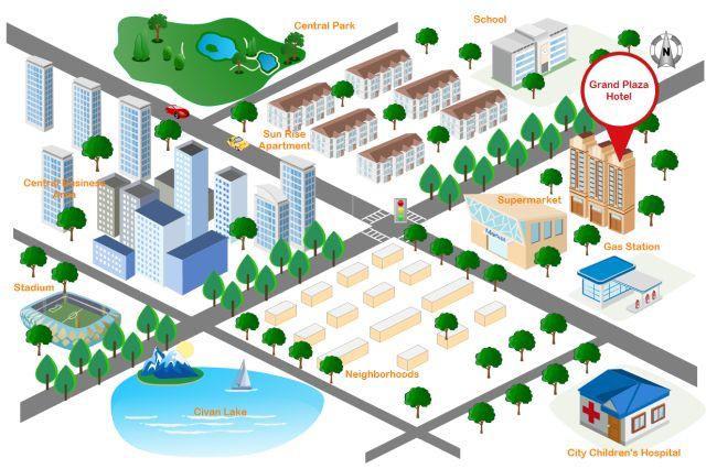 City Street Map Free City Street Map Templates Pertaining To Blank City Map Template Street Map Map City Map