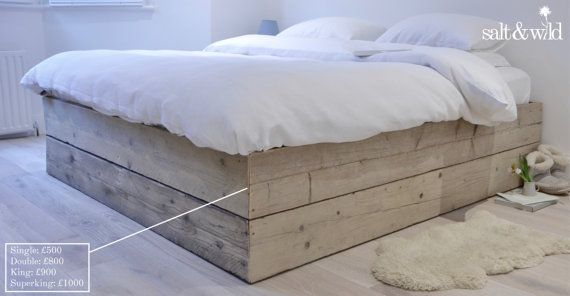 Reclaimed Scaffold Board Bed Base Bed Base Bed Beautiful Bedding