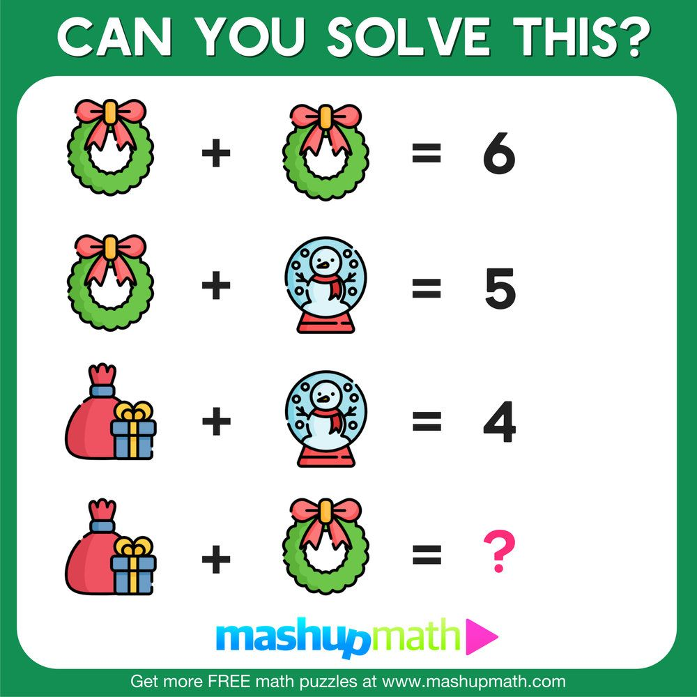 10 Free Christmas Math Activities For Your Kids Mashup Math Christmas Math Activities Holiday Math Worksheets Holiday Math