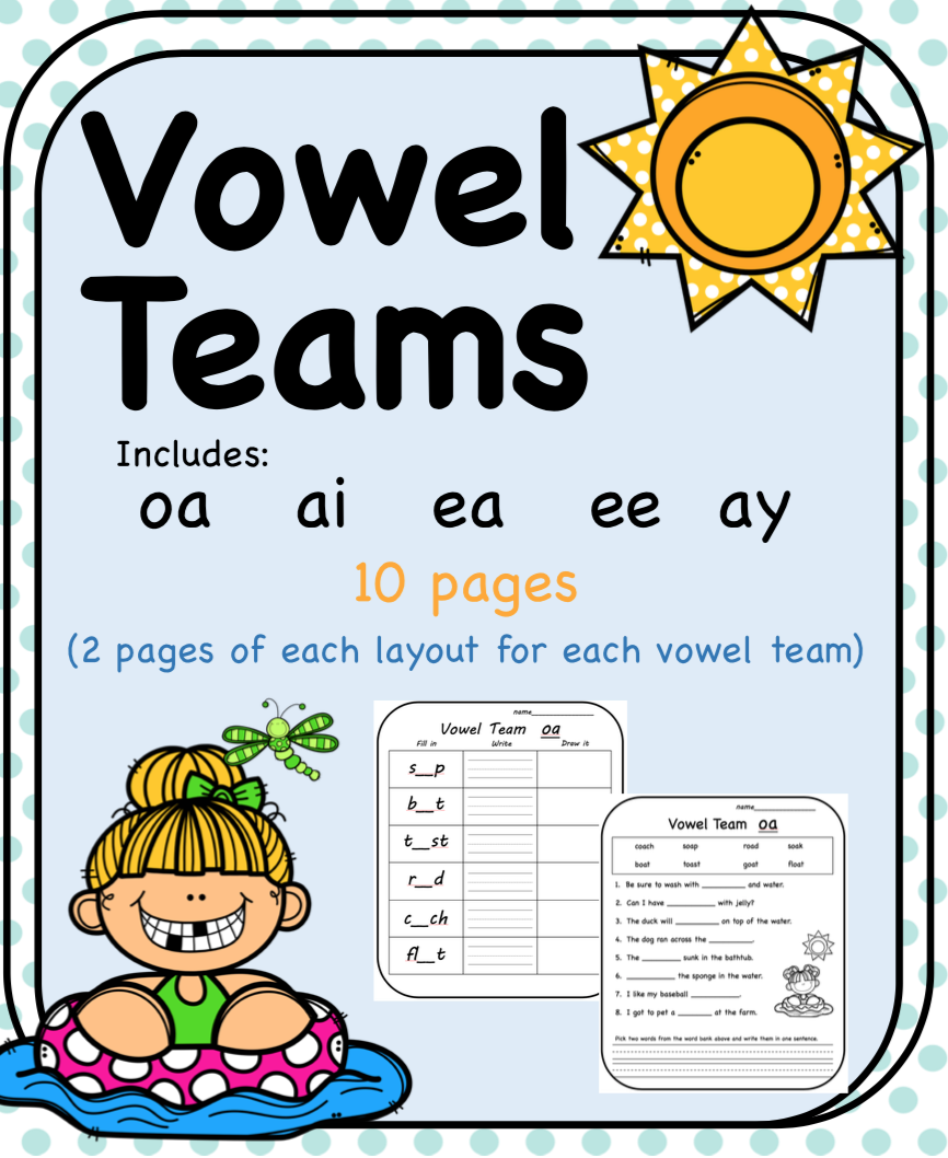 medium resolution of Vowel Teams oa ai ea ee ay   Vowel team