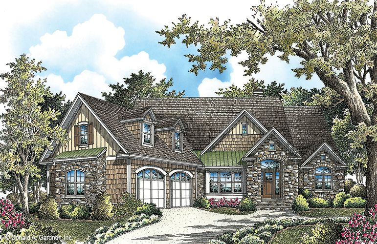 Rendering to reality of The Westlake house plan 1332-D. #WeDesignDreams #DonGardnerArchitects