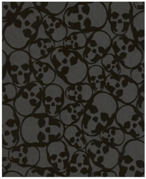 Barbara Hulanicki S Skull Wallpaper Flock Wallpaper Skull Wallpaper Brown Wallpaper
