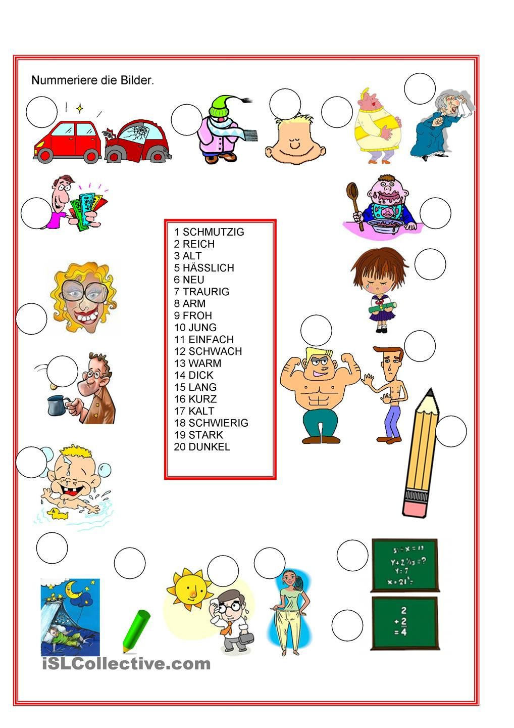 Adjektive | Worksheets