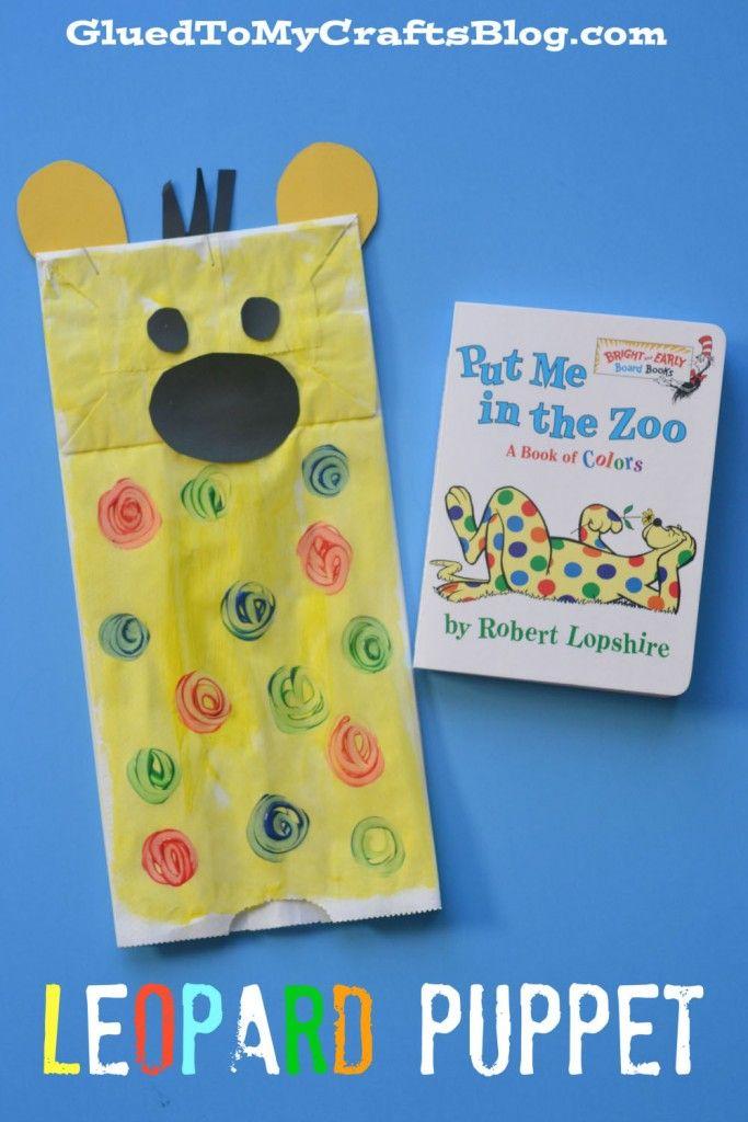 Dr seuss inspired leopard puppet kid craft puppet for Dr seuss crafts for preschool
