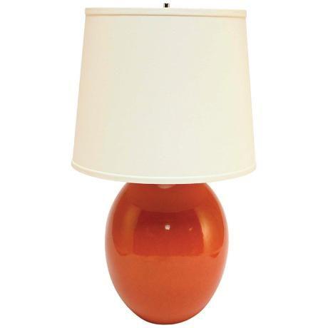 Haeger Potteries Paprika Ceramic Egg Table Lamp P1921 Lamps Plus Table Lamp Ceramic Lamp Base Lamp
