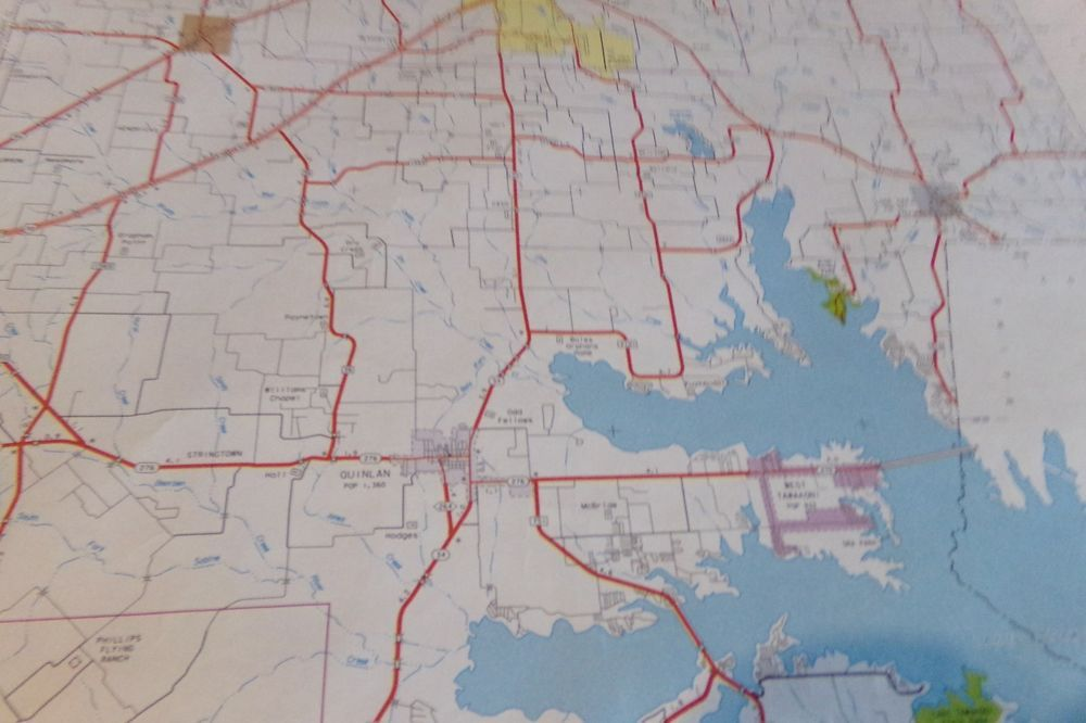 Vintage Lamar County Texas Poster Size Highway