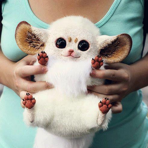 Peluches hiperrealistas de mascotas fantásticas #cutecreatures