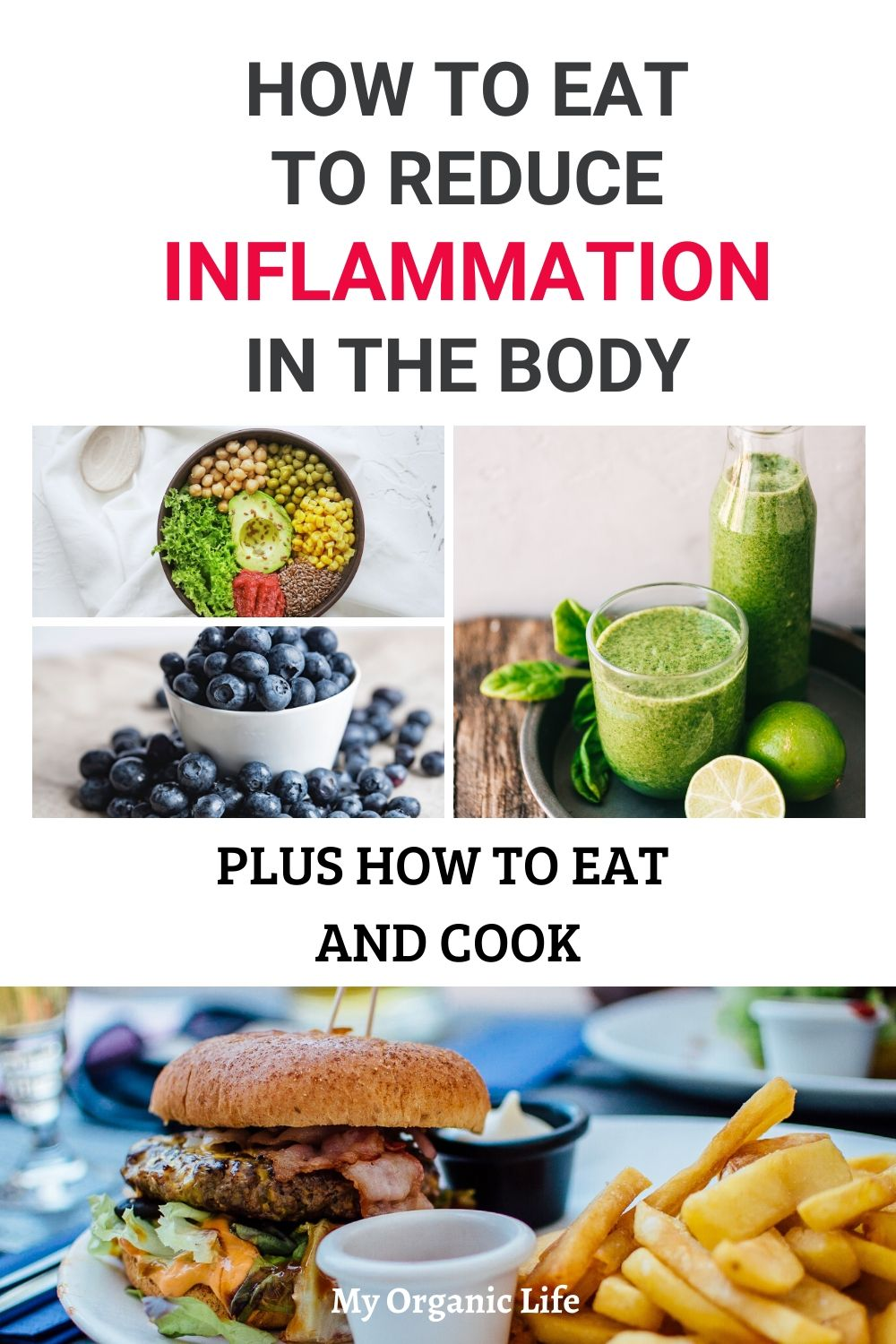 Reduce chronic inflammation by adopting an anti-inflammatory diet – these tips will help you get started! #reduceinflammation #healthybody #healthydiet