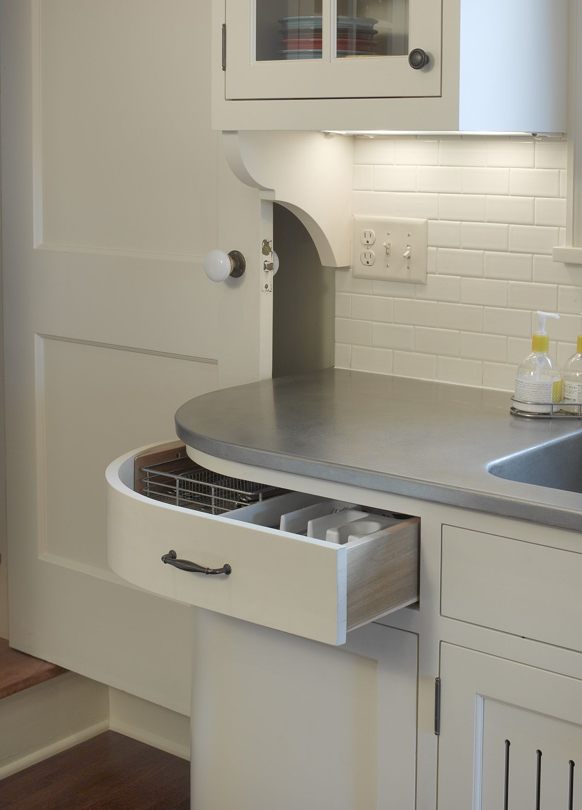 A Curved Drawer Solves Common Kitchen