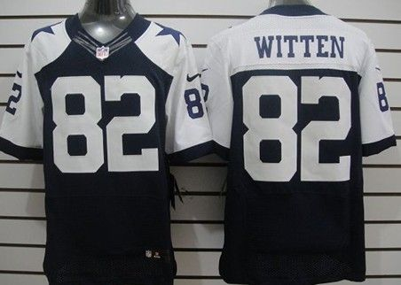 official photos 8523d 8b0d8 Nike Dallas Cowboys #82 Jason Witten Blue Thanksgiving Elite ...