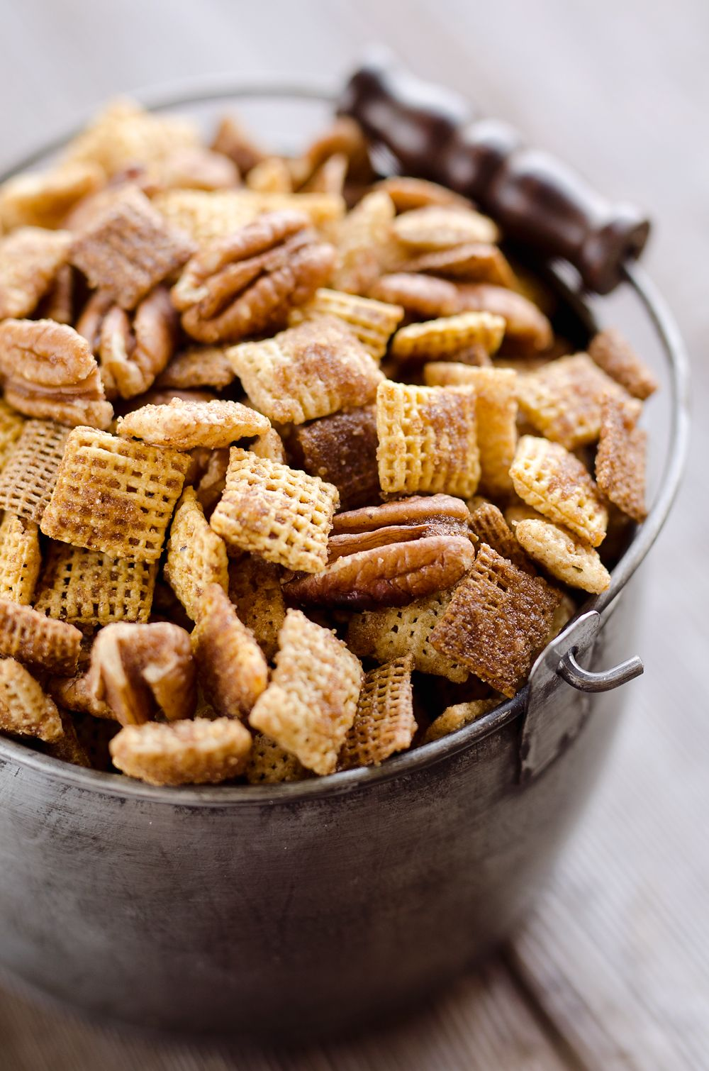 Sweet & Spicy Pecan Snack Mix is a delicious treat with