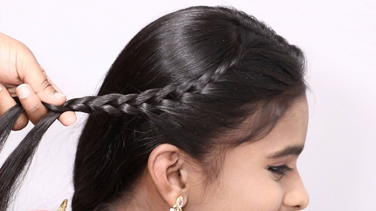Cute Juda Hairstyle Easy Hairstyles For Medium Hair Simple Party Hairstyle Girls Easyh In 2020 Easy Hairstyles For Medium Hair Medium Hair Styles Party Hairstyles