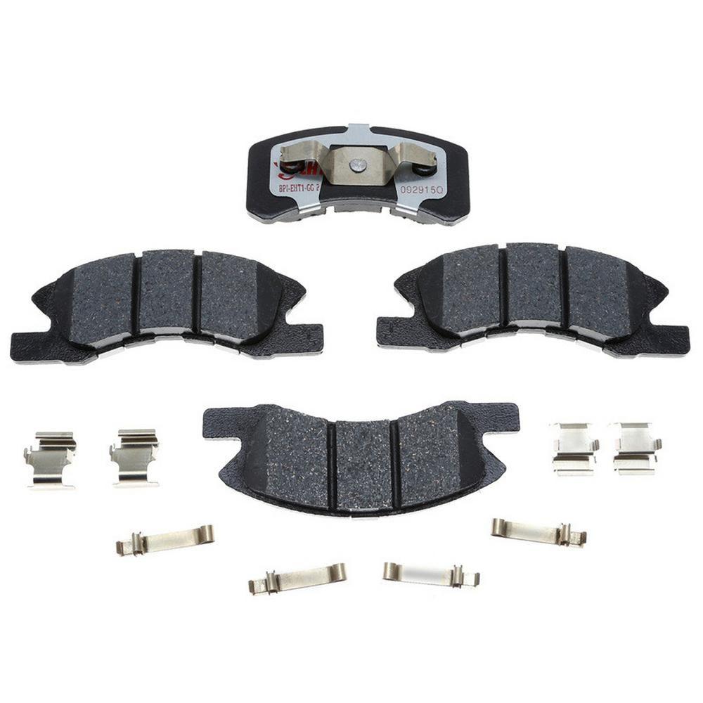 Rear Drill /& Slot Brake Rotors /& Metallic Pads For Cadillac CTS-V Chevy Camaro