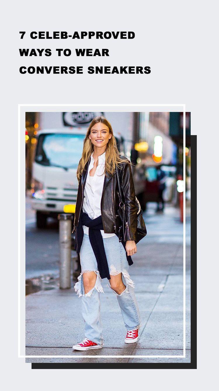 7 Celeb Approved Ways to Wear Converse Sneakers | Estilo en