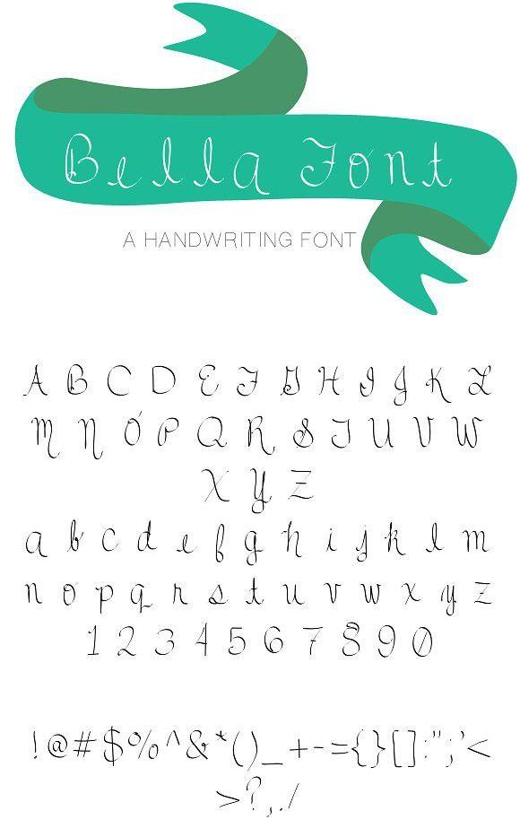Bella Font Download Now Cursive Fonts Cursive Fonts