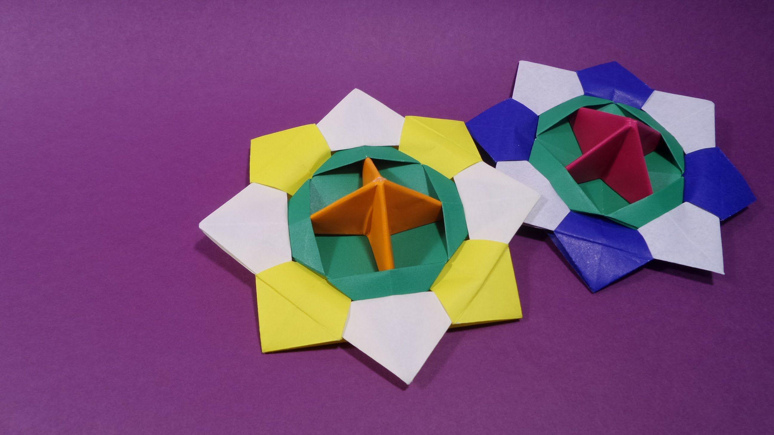 팽이 색종이 접기 - Origami Confetti top