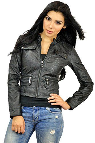 79f48cc6b5ea Carmin Womens Faux Leather Motorcycle Jacket Small Black ** Learn more by  visiting the affiliate link Amazon.com on image.