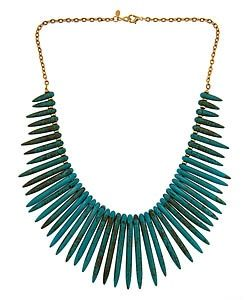 turquoise dagger necklace.