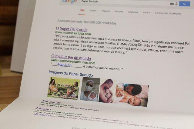Cartão Google: Papai Sortudo ~ Mamãe Sortuda