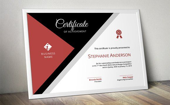 Modern corporate certificate by Inkpower on @creativemarket - Creative Certificate Designs
