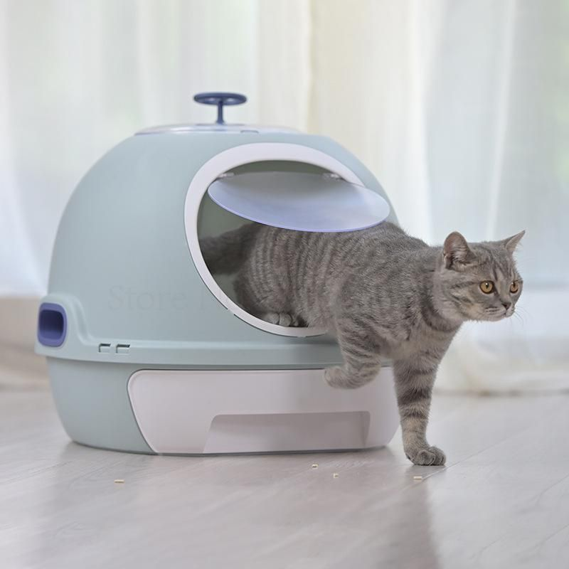 Cat Litter Box Fully Enclosed Cat Toilet With Automatic Purifier Deodorant And Splash Prevention In 2020 Cat Toilet Cat Litter Cat Supplies