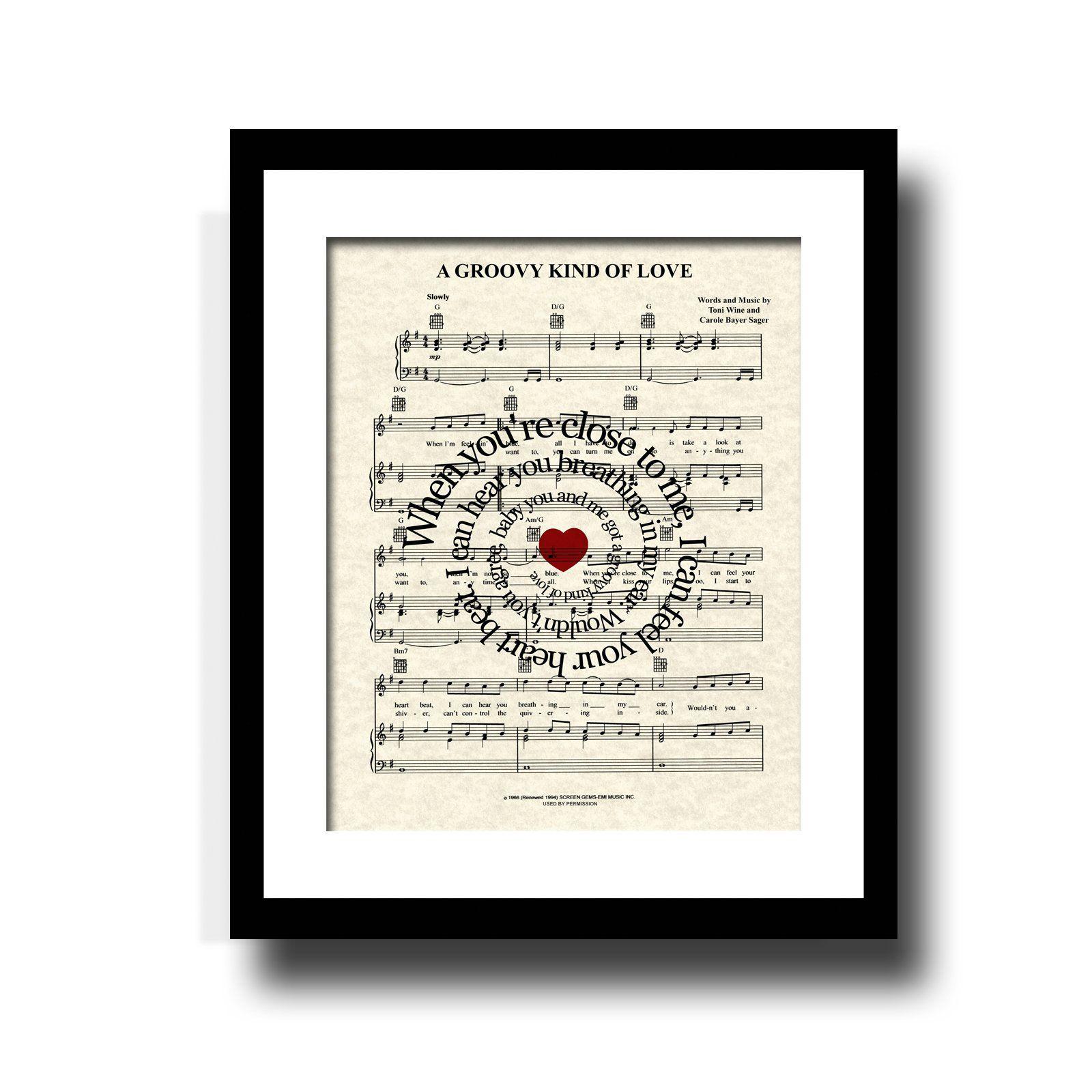 Groovy Kind Of Love | Sheet Music Art | Paper Print